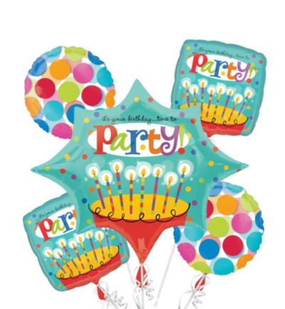 Happy Birthday Balloon Bouquet - Perfect Time to Party