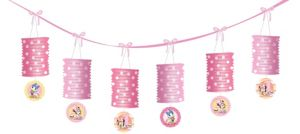 1st Birthday Minnie Mouse Lantern Garland 12ft