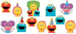 1st Birthday Sesame Street Cutouts 12ct