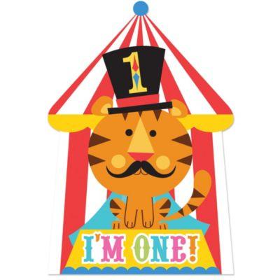 1st Birthday Fisher-Price Circus Invitations 8ct