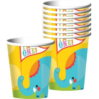 1st Birthday Fisher-Price Circus Cups 8ct