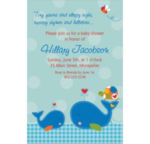 Custom Ahoy Baby Invitations