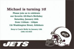 Custom New York Jets Invitations