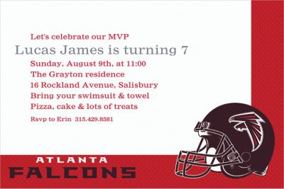 Atlanta Falcons Custom Invitation