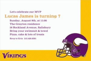 Custom Minnesota Vikings Invitations