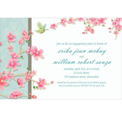 Custom Cherry Blossom Love Wedding Invitations