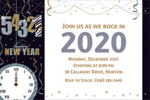 Custom Wild Countdown New Year's Invitations