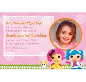 Custom Lalaloopsy Photo Invitations