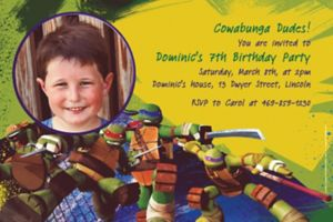 Custom Teenage Mutant Ninja Turtles Photo Invitations
