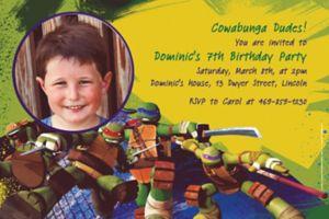 Custom Teenage Mutant Ninja Turtles Photo Invitations