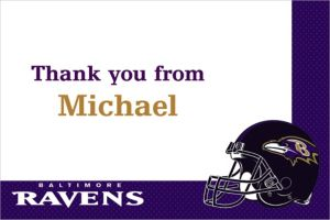 Custom Baltimore Ravens Thank You Notes