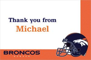 Custom Denver Broncos Thank You Notes