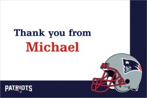 Custom New England Patriots Thank You Notes