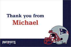 Custom New England Patriots Thank You Notes