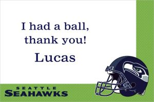 Custom Seattle Seahawks Thank You Notes