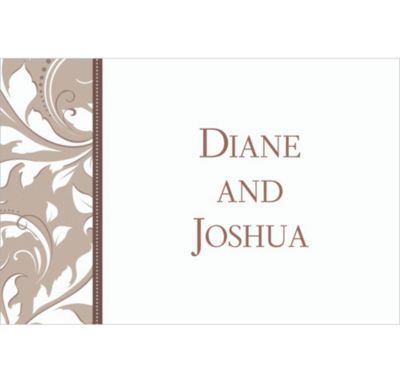 Silver Custom Wedding Thank You Note
