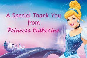 Custom Cinderella Thank You Notes