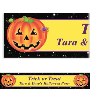 Custom Perfect Pumpkin Halloween Banner 6ft