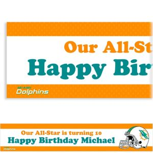 Custom Miami Dolphins Banner 6ft