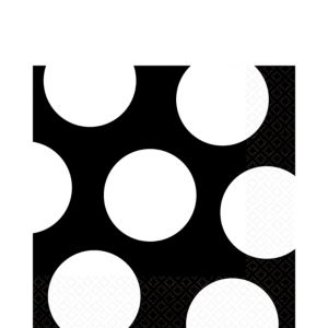 Black Dot Lunch Napkins 16ct