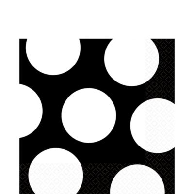 Black Dot Lunch Napkins 16ct