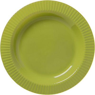 Avocado Premium Plastic Dinner Plates 16ct
