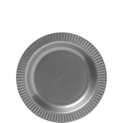 Silver Premium Plastic Dessert Plates 32ct