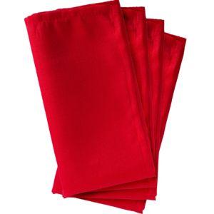 Red Fabric Napkins 4ct