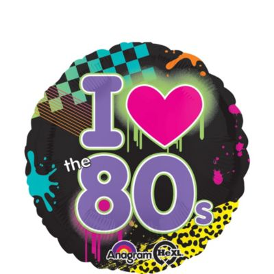 80s Balloon - I Love the 80s