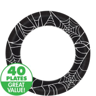Spider Web Lunch Plates 40ct