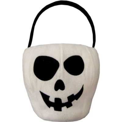 Plush Skull Treat Bucket