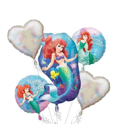 Little Mermaid Balloon Bouquet 5pc