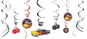 Classic 50s Swirl Decorations 12ct