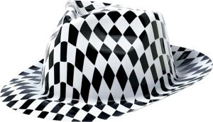 Black & White Checkered Fedora