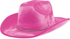 Pink Suede Cowboy Hat