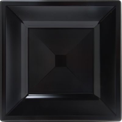 Black Premium Plastic Square Dinner Plates 10ct