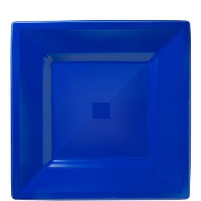 Royal Blue Premium Plastic Square Lunch Plates 10ct