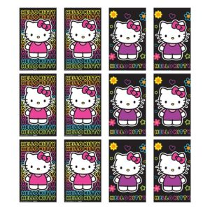Neon Hello Kitty Black Paper Memo Pads 12ct