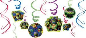 Teenage Mutant Ninja Turtles Swirl Decorations 12ct