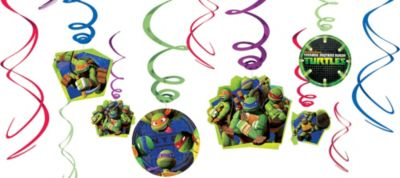 Teenage Mutant Ninja Turtles Swirl Decorations 12ct