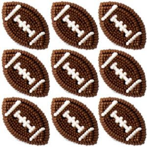 Football Icing Decorations 9ct