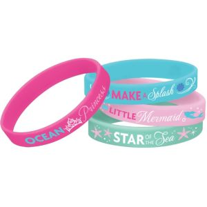 Little Mermaid Wristbands 4ct