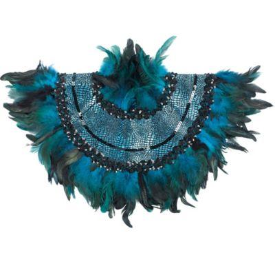 Peacock Feather Collar
