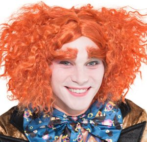 Mad Hatter Wig and Eyebrows Set