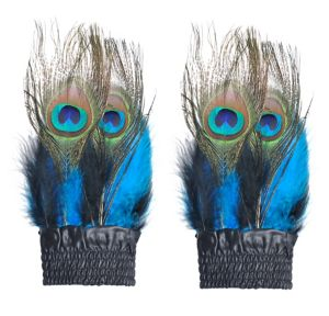 Peacock Feather Cuffs