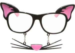 Kitty Cat Sun-Stache Glasses