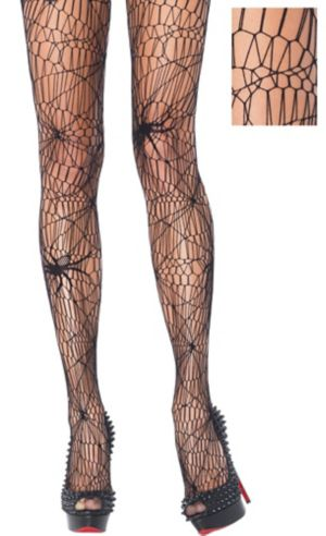 Adult Black Widow Spider Web Pantyhose