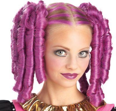 Anime Curls Magenta Wig