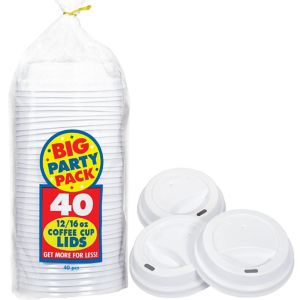 Big Party Pack Coffee Cup Lids 40ct