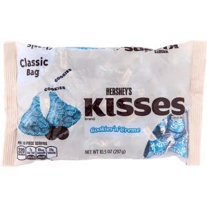 White Chocolate Cookies 'n' Creme Hershey's Kisses 70ct